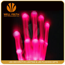 Multicolor changing flash Led Light Up Skeleton Gloves,Decorative Light Up Skeleton Gloves