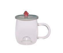 High Quality Glass Drinking Cup With Handle Cute Glass Cups With Lid Cup Glass For Coffee,Tea,Milk