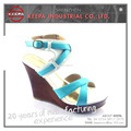 wholesale new fashionable cheap leather ladies shoes sandals