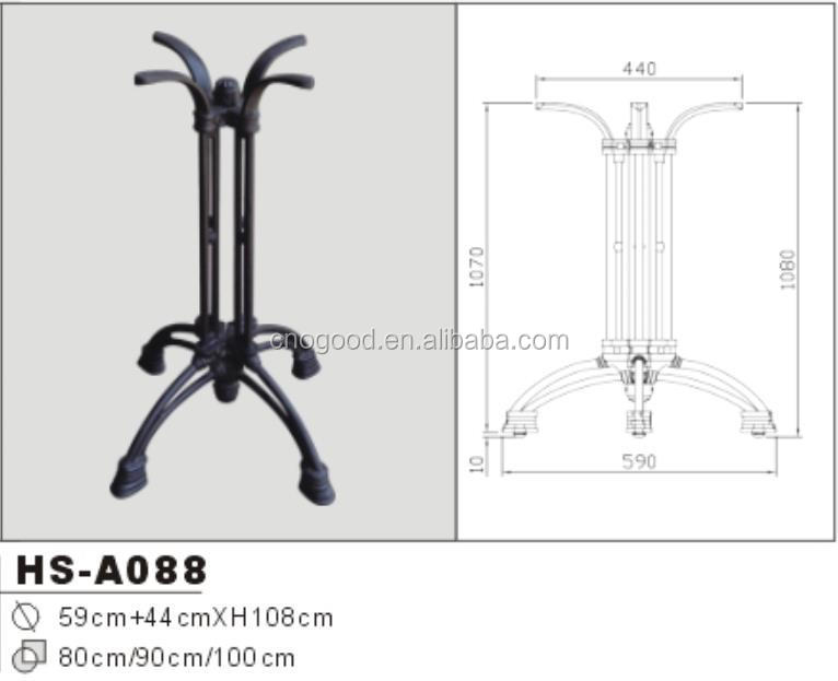 cast iron adjustable table leg