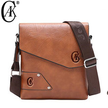 CAK Brand Man Leather Bag Vintage Shoulder Crossbody Bags For Men Leather Male iPad Casual Messenger Tote Bag