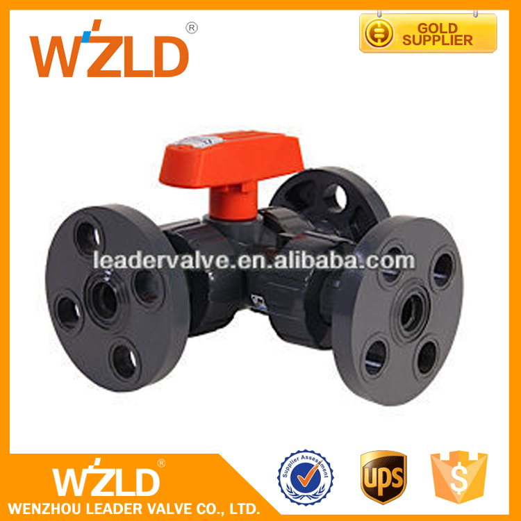 WZLD Oil Media PPR Handle Forged Steel 3PC Floating Ball Valve China Three-way Valve