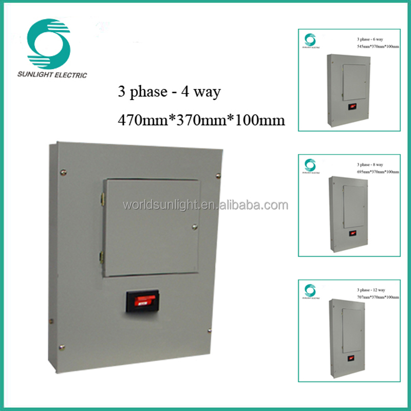 XEM 3 phase 4 way power cable distribution box distribution board