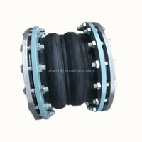 Power plant Industry double sphere flanged rubber expansion joints