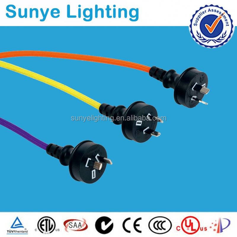 High quality electrical wire with switch and plug bamboo charcoal shoe plug