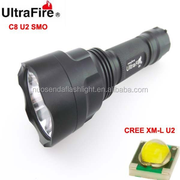 UltraFire C8 1xCREE XM-L <strong>U2</strong> 1200lm SMO LED <strong>Flashlight</strong> (1 x 18650)