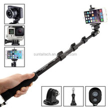 New GoPros Bluetooth Wireless selfie stick Mobile Phone Monopod for gopros accessories ,For Go pro Heros 4/3+/3/2/1 GP214