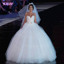 2018 Shining Beaded Tulle Sweetheart Strapless Ball Gown Pakistani Wedding Dress Bridal Gown