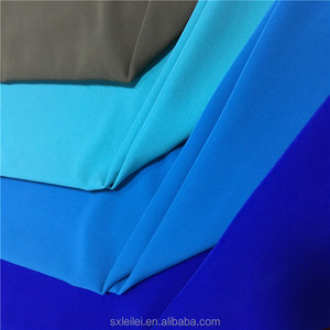 100% poly heavy four way stretch plain dyed fabric for women's pants or jacket
