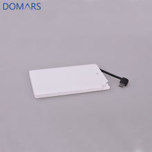 Hot Sale Corporate Gift Ultrathin Power Bank 2500mAh 4000mAh Portable Mini Powerbank With Built-in Cable