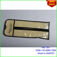 custom hair extension packaging and bag/ Most popular innovative pvc hair extensions bags with hangers