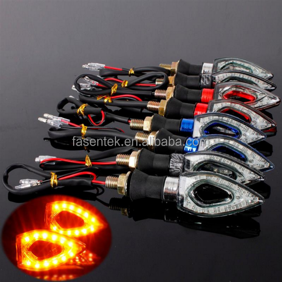 2016 Hot Sale Waterproof Motorcycle 12 LED Turn Signal Indicator Flashers Amber Lights