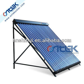 solar heating system in split pressurized, sun collector, vacuum solar collector