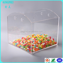 plastic storage box with sliding lid,fashionable acrylic mini candy bin