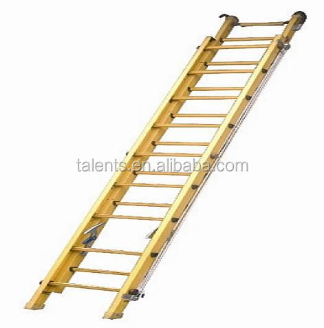 5m single elevating FRP ladders with hooks,FRP Extension Ladder