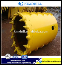 Top Quality core barrel drilling bucket with bits manufactured in China