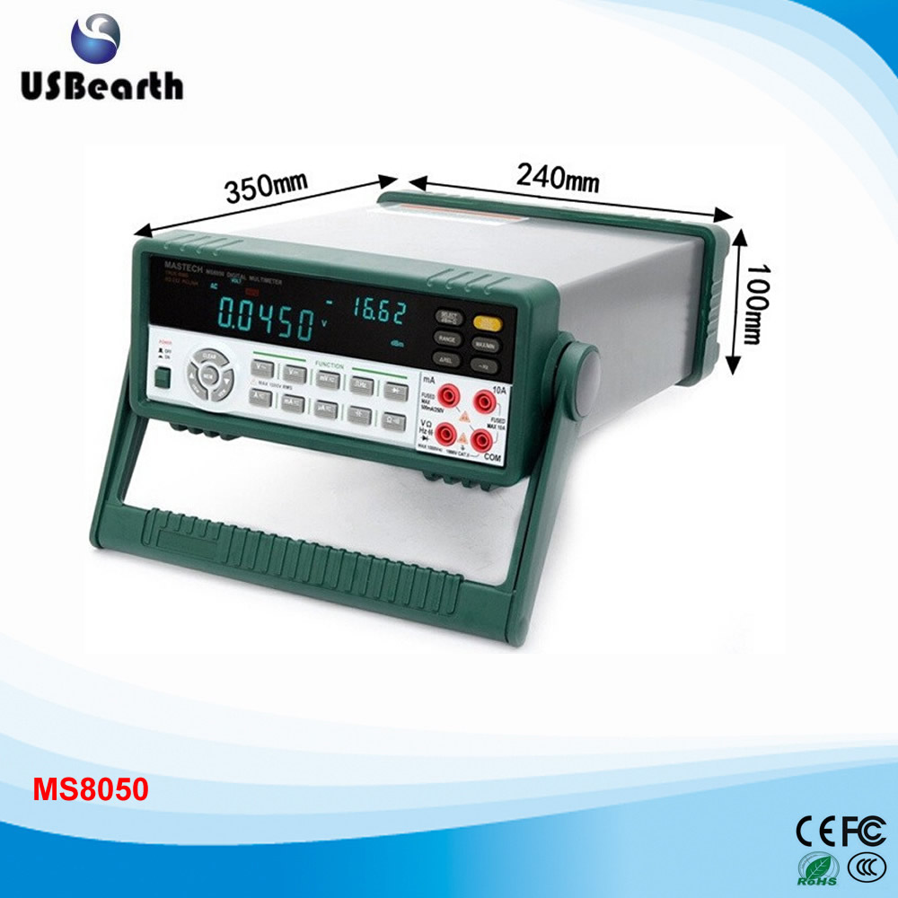 MASTECH MS8050 53000 Counts VFD Display Autoranging Bench Top Multimeter