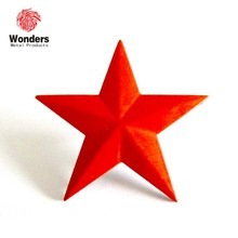 red star charm red metal star pin red star