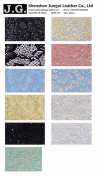 wholesale eco-friendly PU Glitter fabric leather for garment, bags and etc.