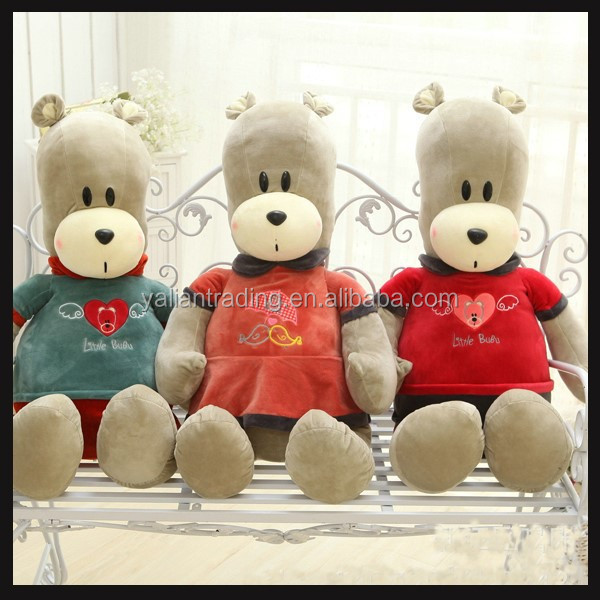 handmade stuffed plush toy bear with OEM brand