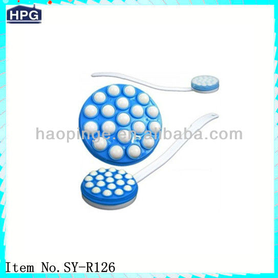 Plastic colors artificial lotion applicator baby body brush