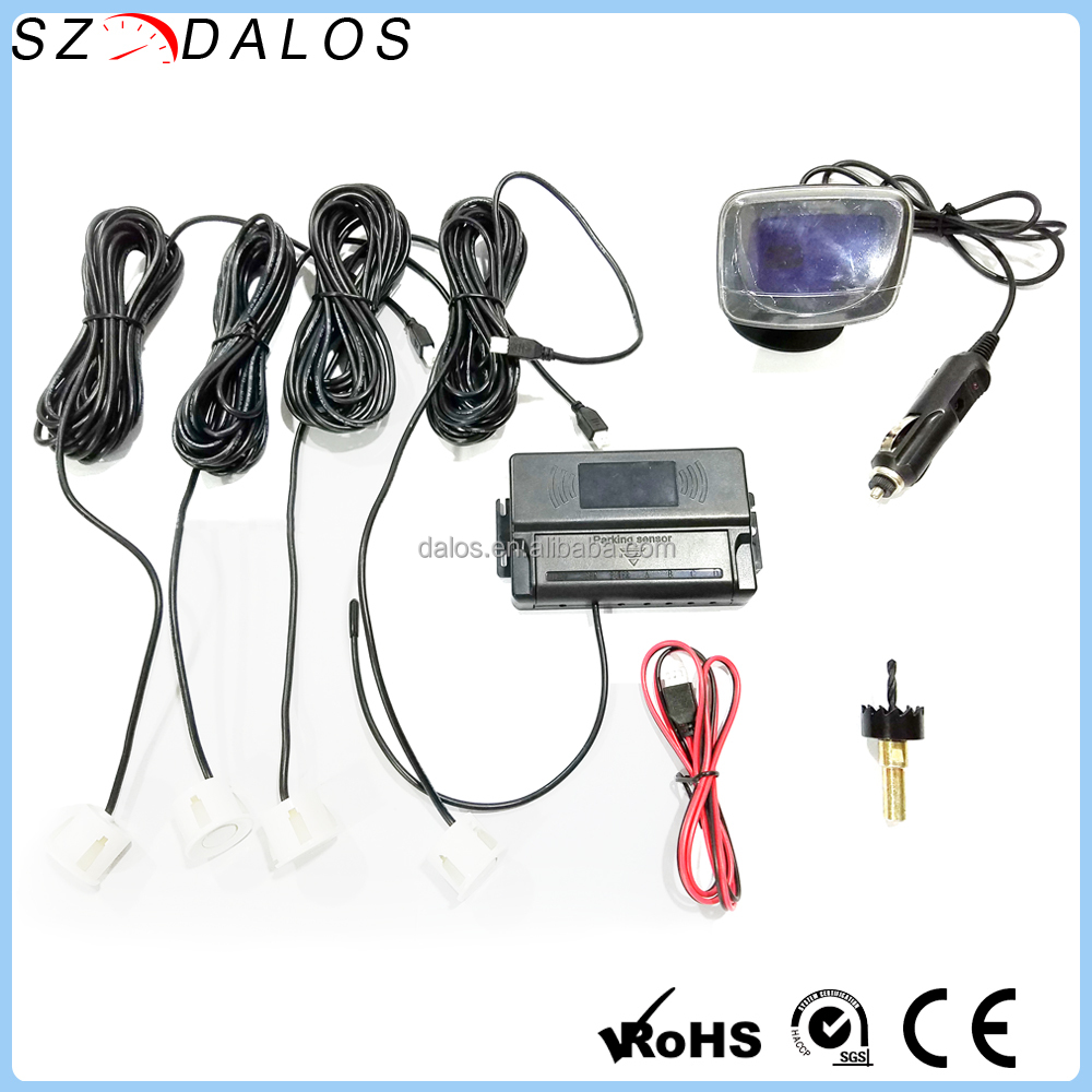 4.3 inch LCD car ultrasonic accident sensor wireless car parking sensors