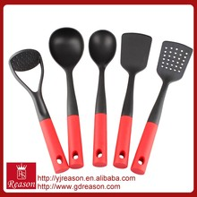new design multi function red nylon kitchen cooking tools