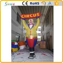 Inflatable fat clown sky air dancer with blower for circus