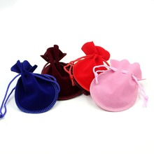 Gourd Stylish many colors string velvet pouch bag with your logo