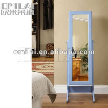 Square Mirrored Jewelry Armoire Model