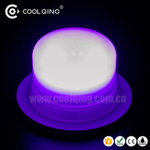 Free shipping Modern 16 color light changing under table lamp with remote control 4 level brightness