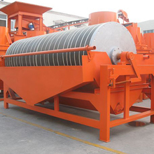 Iron ore dry magnetic drum separator for metal separation