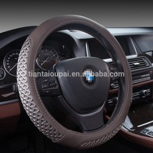 automatic hot sale genuine leather car steering wheel cover