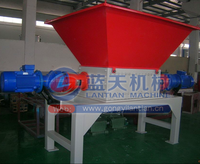 Waste plastci and rubber double shaft shredder machine used tire shredder machine for sale