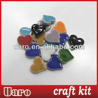Art and craft colorful heart shape ceramic mosaic loose DIY craft material