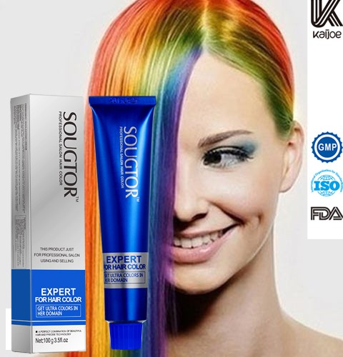 Professional natural herbal organic hair dye color ,anti-allergy hair color cream without ammonia