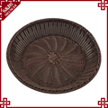 Oem high quality durable pe rattan vegetable basket for kitchen and supermarket