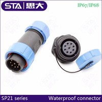 3PIN waterproof cable SP13 weipu plastic connector