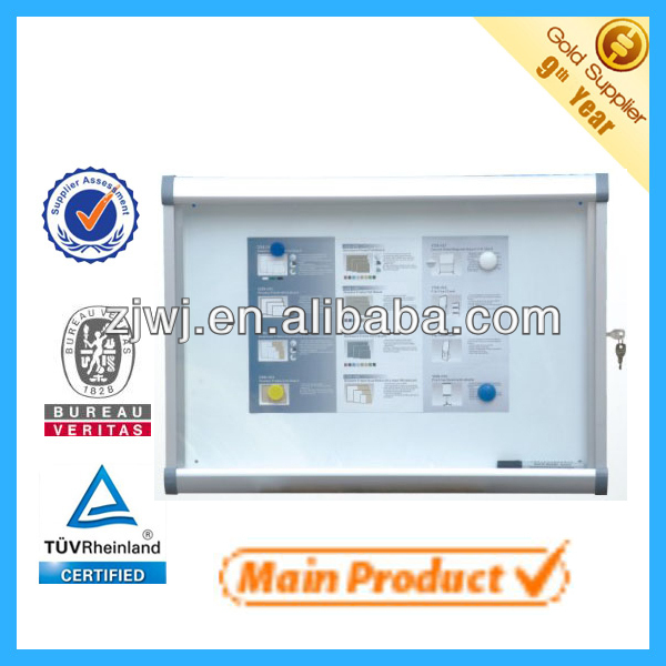 exhibition furniture showcase cabinet aluminum case waterproof outdoor display cabinets