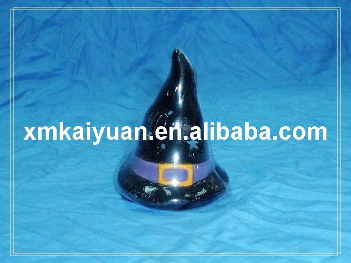 Halloween witch hat decoration candle holder