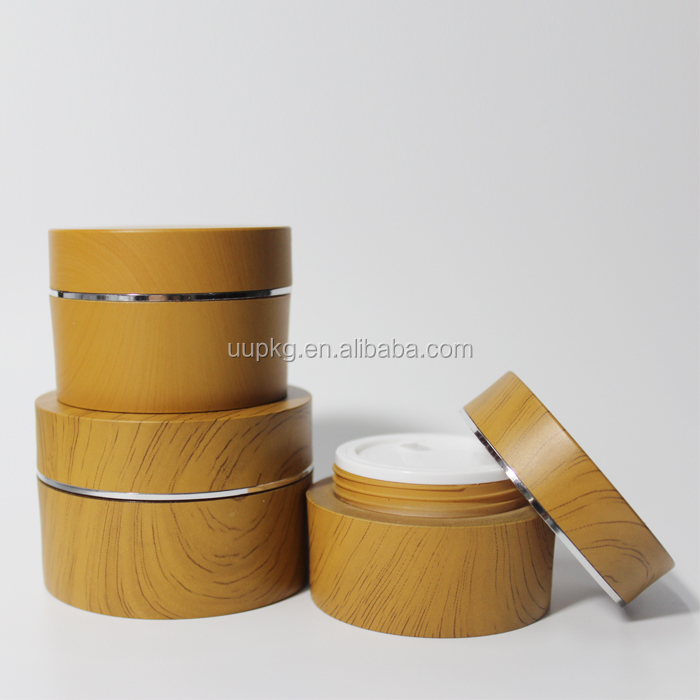 UU packaging 50ml wooden cream jar