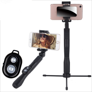 New Bluetooth Selfie Stick Stainless Steel Horizontal Vertical Remote Control Mobile Phone Holder Universal Photo Tripod Stick