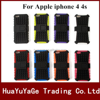 Rugged Kickstand TPU&PC phone case cover for Apple iphone 4 4S