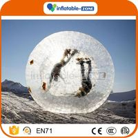 2016 Promotion zorb soccer ball for sale water walking ball bubble zorb
