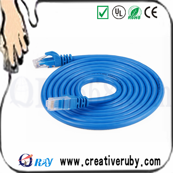 Made in China Factory New style UTP RJ45 cat6 copper patch cord 2m 3m 5m cables and wires with transparent boot and connector