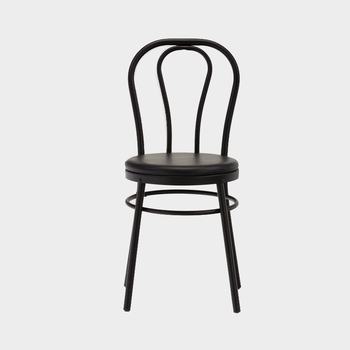 Modern Black Metal Dining Chairs