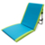 Comfortable soft back blue color easy folding beach chair with pearl cotton