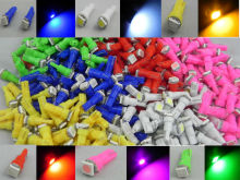 T5 70 73 74 286 37 58 white red yellow blue green pink purple led car dashboard light