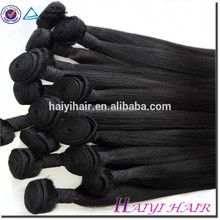 100% Unprocessed Natural Color Shedding Free Aliexpress human hair mixed synthetic fiber hair weaving