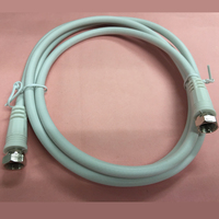 Class A IEC F plug with ferrite white crc9 antenna extension cable